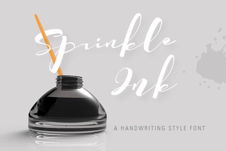SprinkleInk font example image 1