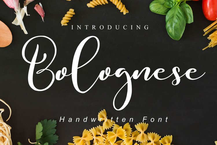 Bolognese // Wedding Font - WEB FONT example image 1