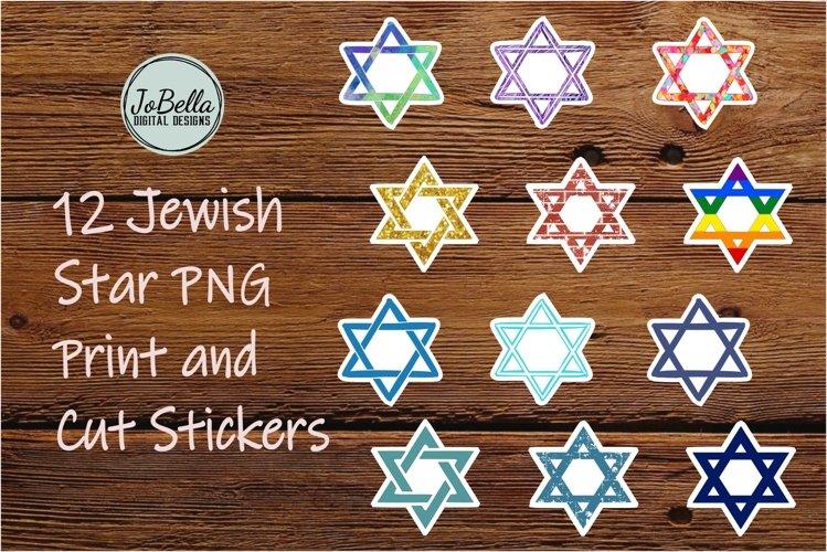 Jewish Star Sticker Bundle