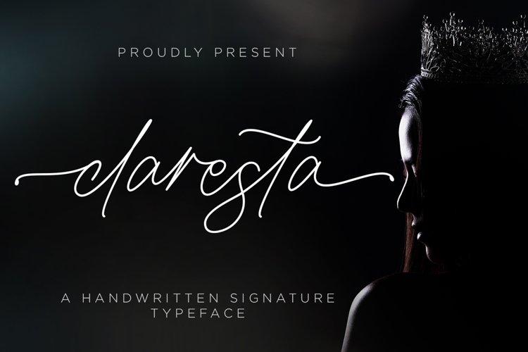 Claresta - Handwritten Signature example image 1