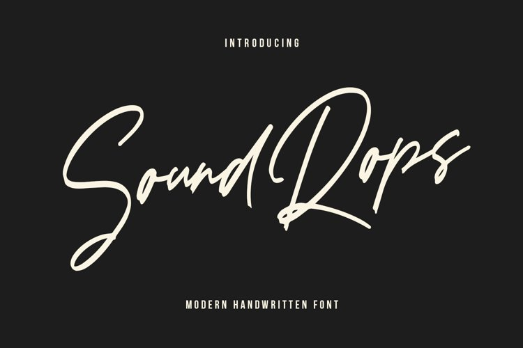 Soundrops Font example image 1