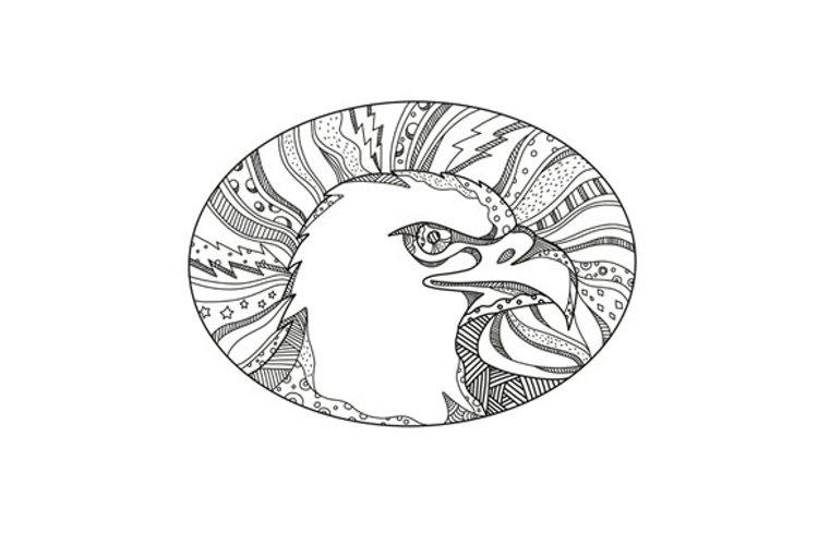 Bald Eagle Head Doodle Art example image 1