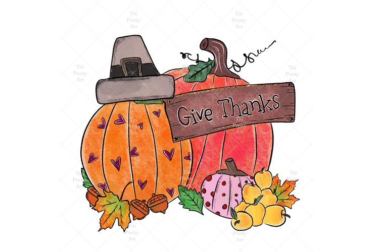 Give Thanks With A Grateful Heart PNG, Thanksgiving Bundle example image 1