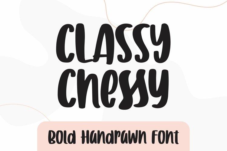 Web Font Classy Cheesy - Bold Handrawn Font example image 1