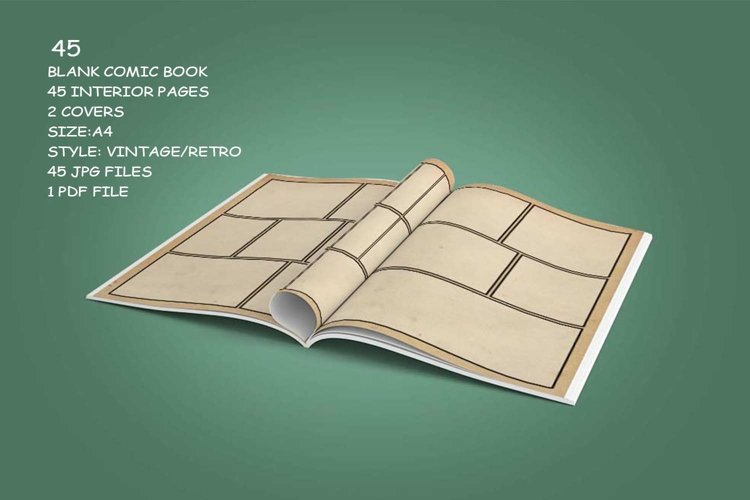 Blank Comic Book Interior Pages & Covers JPG-PDF-PSD-PNG example 6