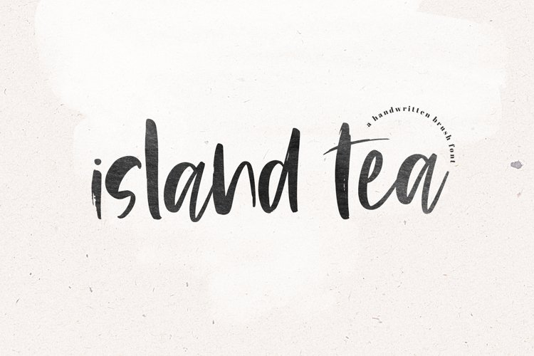 Island Tea - A Handwritten Brush Font example image 1