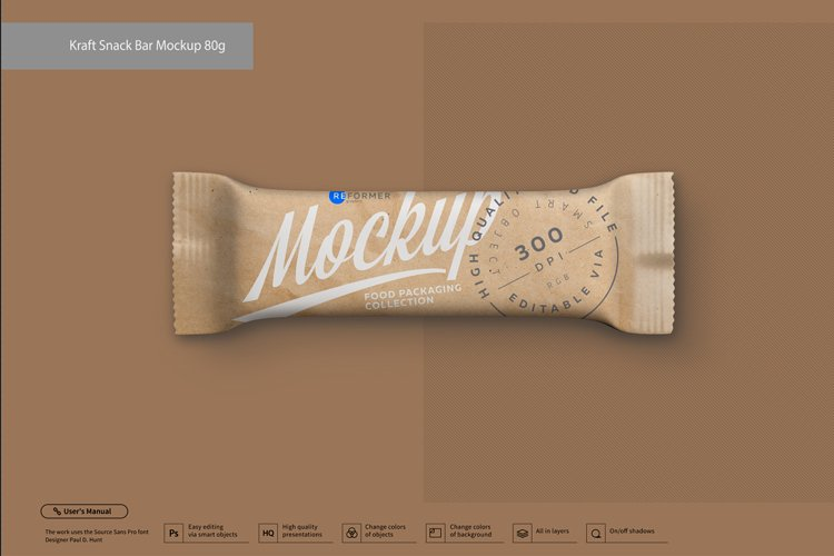 Kraft Snack Bar Mockup 80g example image 1
