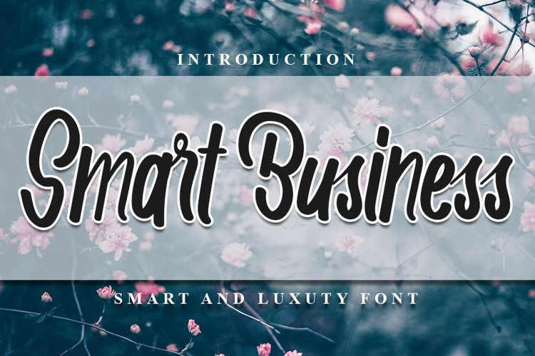Smart Business - Modern Smart Font example image 1