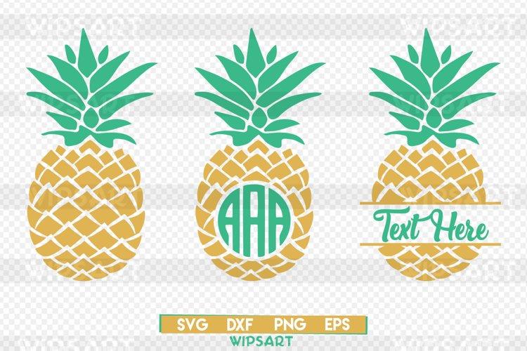 Pineapple svg, pineapple monogram svg, ananas monogram svg example image 1