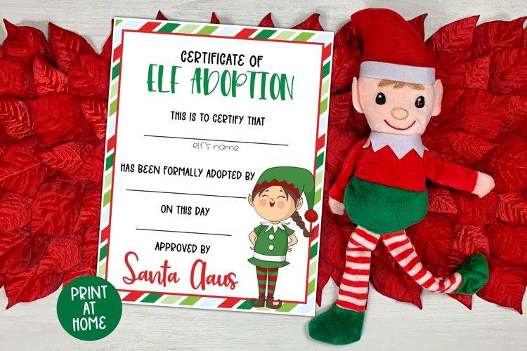 Elf Adoption Certificate for Girls - Christmas Printable