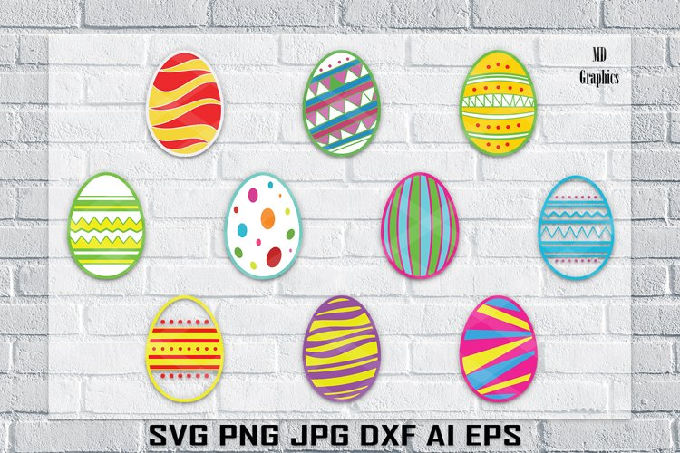 Easter Egg , Easter SVG, Easter Colorful Prints, Printable example image 1