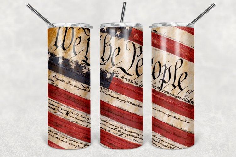Patriotic Tumbler Design, Constitution Tumbler Sublimation