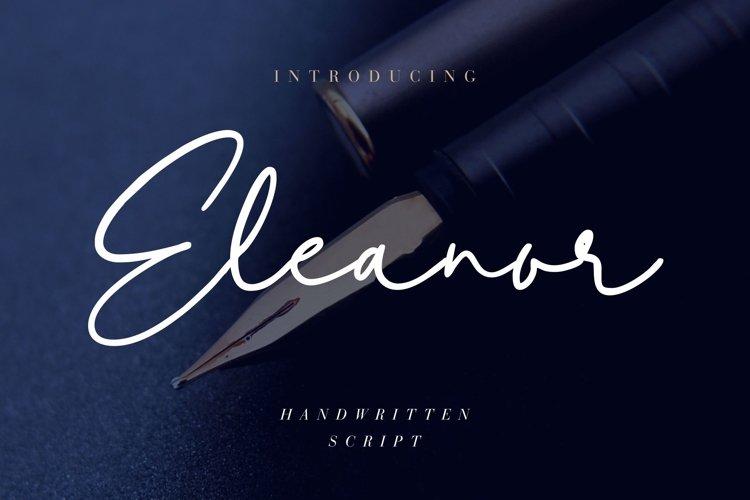 Eleanor Handwritten Script example image 1