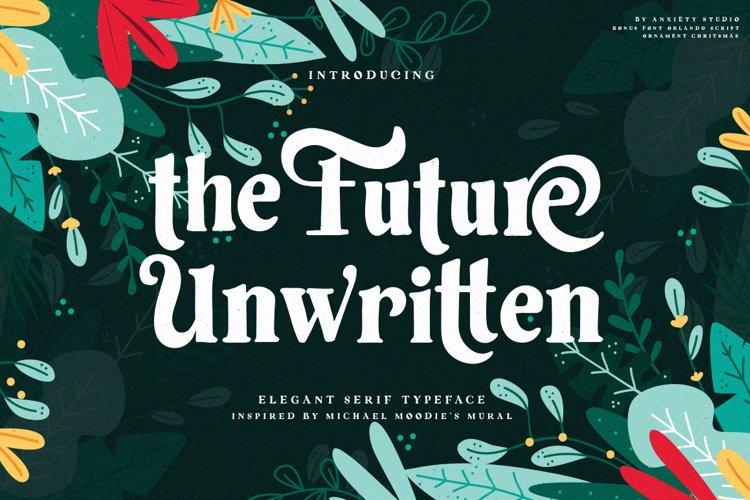 Future Unwritten - Elegant Serif