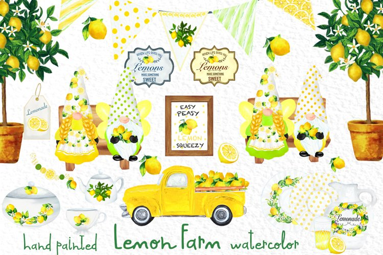 Lemon decor Clipart Lemon tree sublimation Kitchen Utensils
