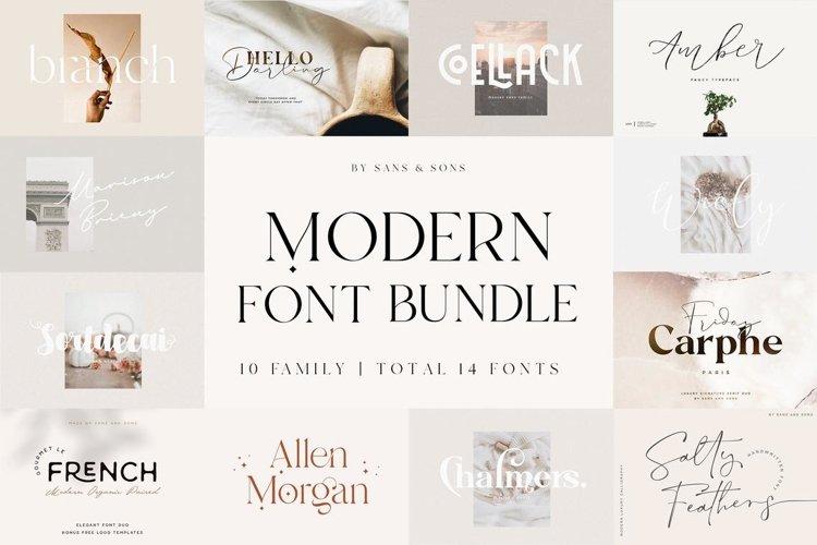 Modern Font Bundle example image 1