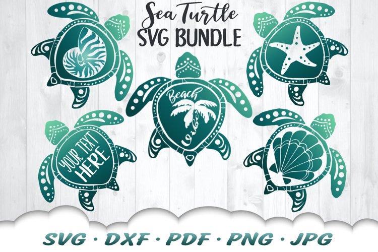 Sea Turtle Summer SVG DXF Cut Files Bundle