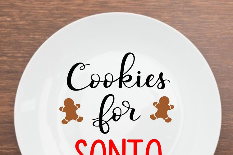 Christmas SVG - Cookies for Santa SVG file, handlettered example 1