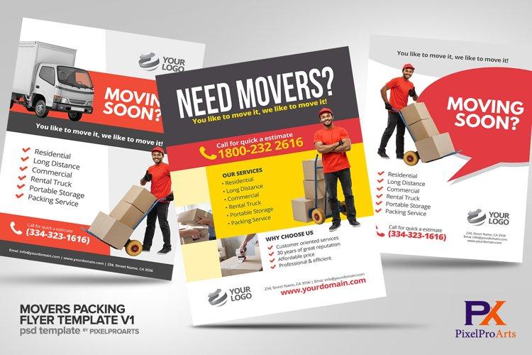 Movers Packing Flyer Template Bundle V1