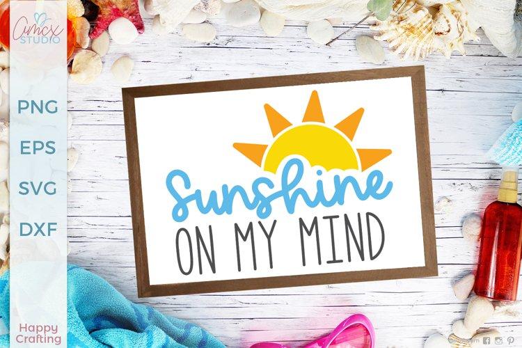 Sunshine on my mind - Summer Craft SVG