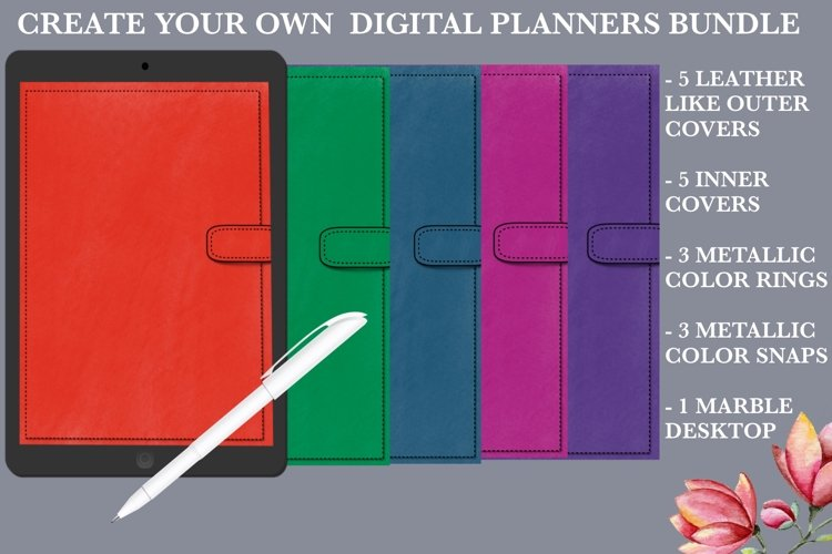 Create Your Own Digital Planners Bundle example image 1