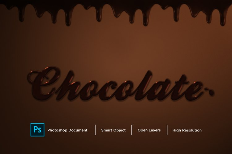 Chocolate Text Effect Design Photoshop Layer Style Effect example image 1