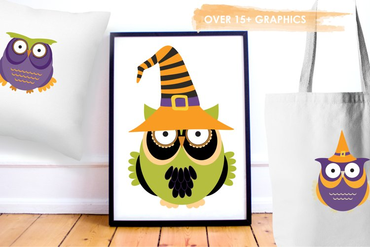Halloween Owls graphics and illustrations - Free Design of The Week Design3