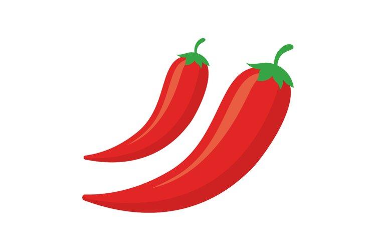 Colored chili design vector illustration example image 1