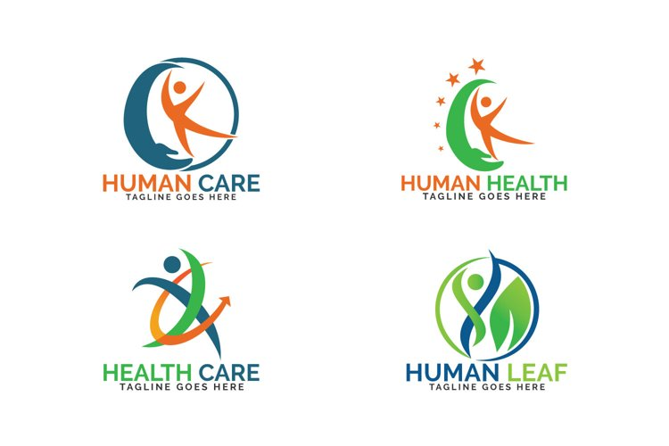 Abstract human health care logo set. example image 1