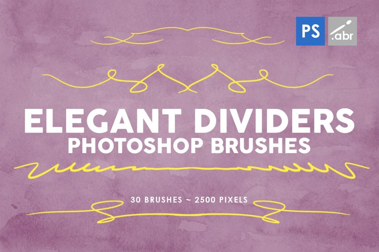 Elegant Dividers Photoshop Stamp Brushes