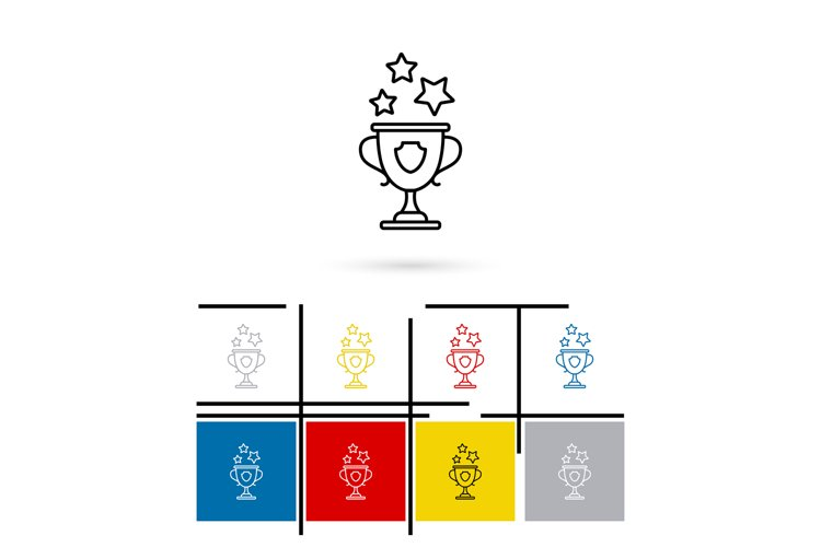 Win cup line icon vector example image 1