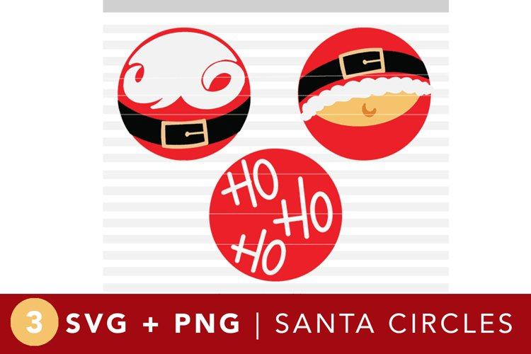 Santa Circles - SVG PNG