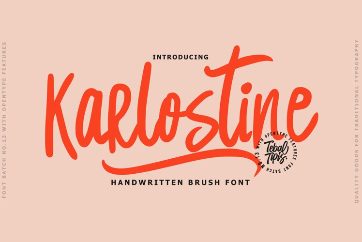 Karlostine Font example image 1