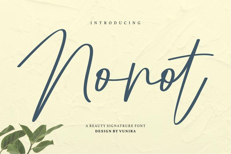 Nonot | A Beauty Signature Font example image 1