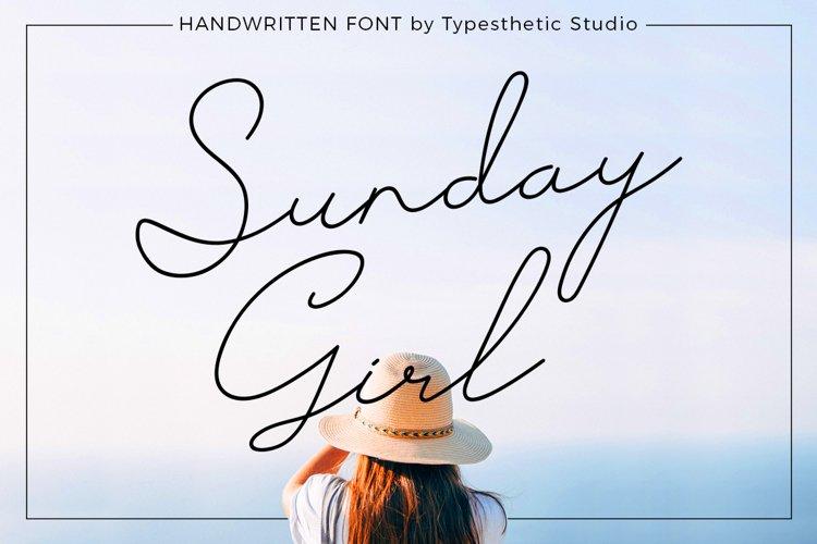 Sunday Girl Handwritten Script example image 1