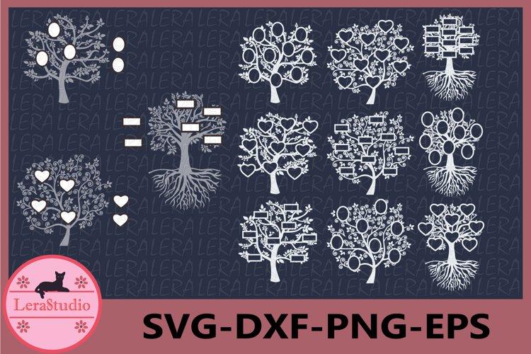 Family Tree SVG, Tree Vinyl Decal, Tree Cut Files example image 1