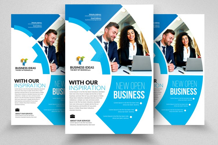 Business Strategic Flyer Templates ad example image 1