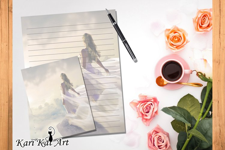 Pack of eight printable journal page Sky Free example image 1