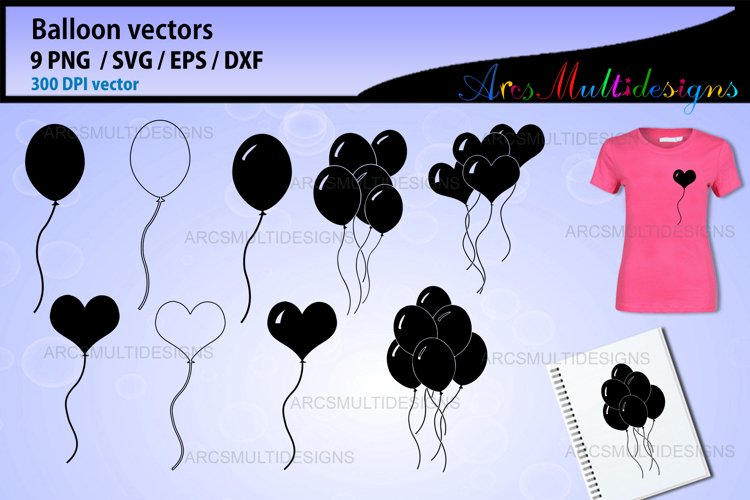 Balloon SVG / Party Balloon Vectors