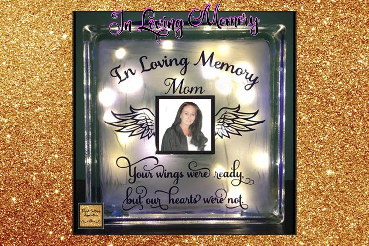 In Loving Memory, Your Wings Were ready, Angel, Sympathy svg