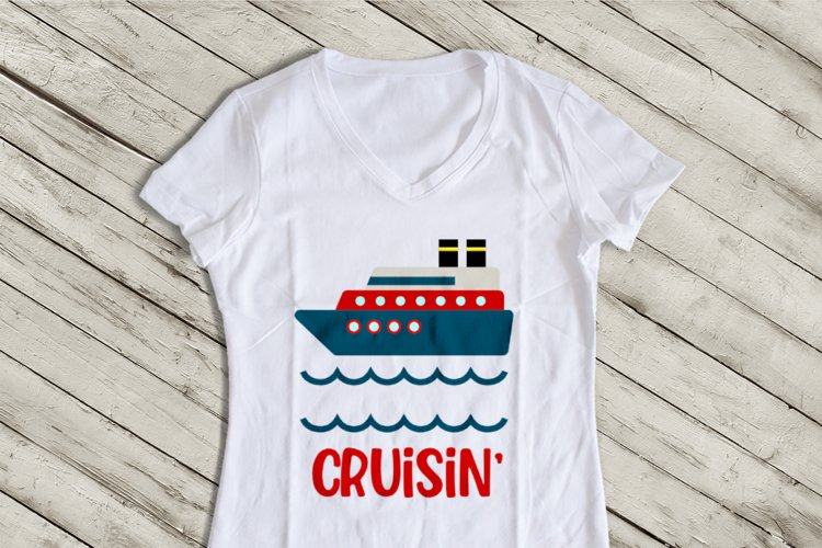 Cruise Ship SVG Design