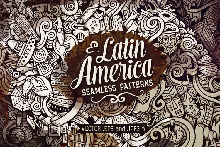 Latin America Graphics Doodle Patterns example image 1