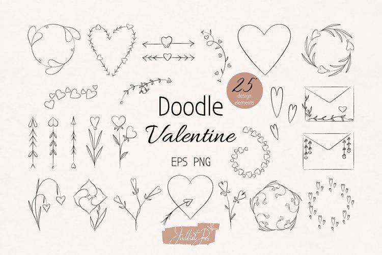 Valentine Clipart Doodle Clipart, Botany Design Elements