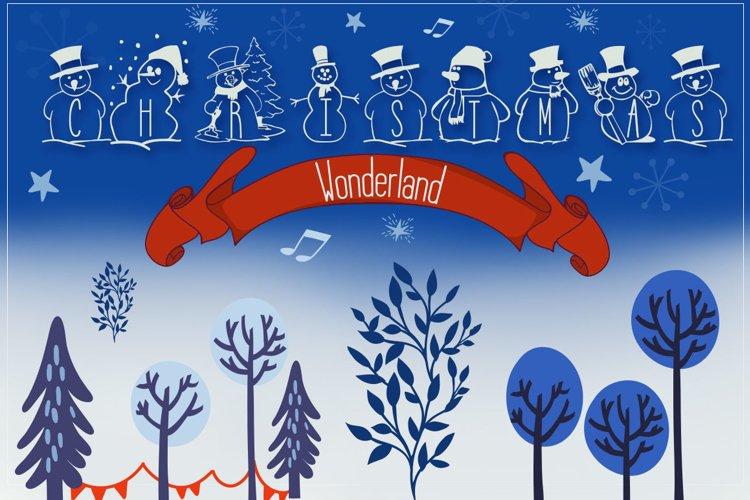 Christmas Wonderland - Christmas Font & Bonus example image 1