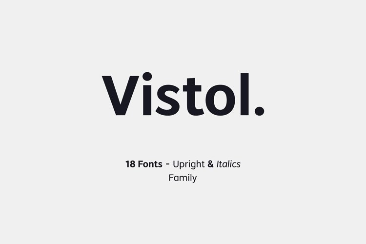 Vistol Sans - Full Family Special Price! example image 1