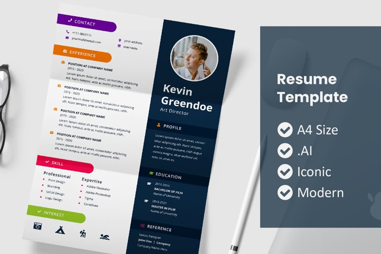 Right Photo Resume Template