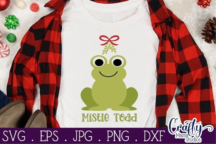 Christmas Svg, Animal Svg, Toad, Frog, Mistle Toad Mistletoe example image 1