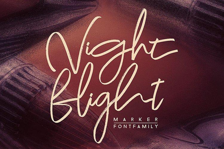 Night Flight Marker Brush Font example image 1