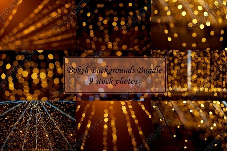 Bundle Bokeh backgrounds 9 stock photos