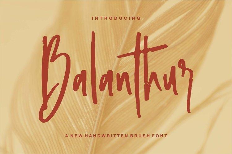 Web Font Balanthur - A New Handwritten Brush Font example image 1